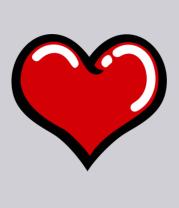 Мужская футболка  Объемное сердечко