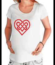 Футболка для беременных Сердце из кельтских узоров