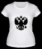 Женская футболка  Герб РФ
