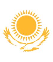 Мужская футболка  Герб Казахстана