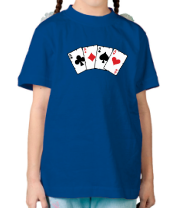 Детская футболка  Четыре туза