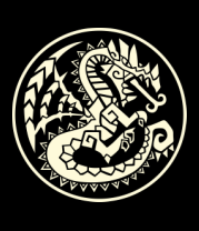 Мужская майка Дракон узор-мозаика (свет)