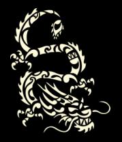 Женская майка борцовка Китайский дракон (свет)