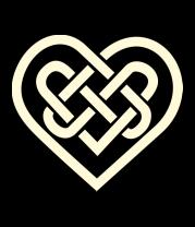 Женская футболка  Сердце из кельтских узоров (свет)