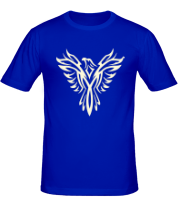 Мужская футболка  Феникс узор (свет)