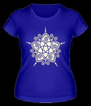 Женская футболка  Узорная звезда (свет)
