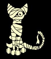 Мужская футболка  Кот мумия (свет)