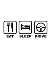 Женская майка борцовка Eat sleep drive