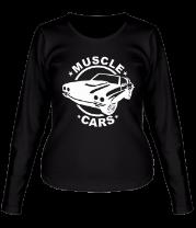 Женская футболка с длинным рукавом Muscle cars
