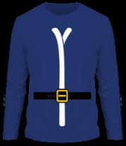 Мужская футболка с длинным рукавом Одежда деда мороза
