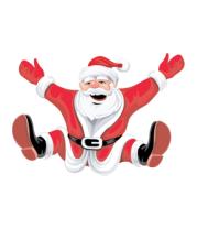 Футболка поло мужская Санта Клаус