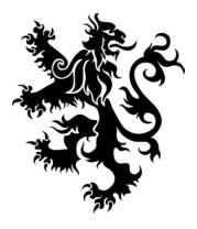 Коврик для мыши Геральдический лев