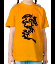 Детская футболка  Дракон узор