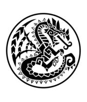Коврик для мыши Дракон узор-мозаика