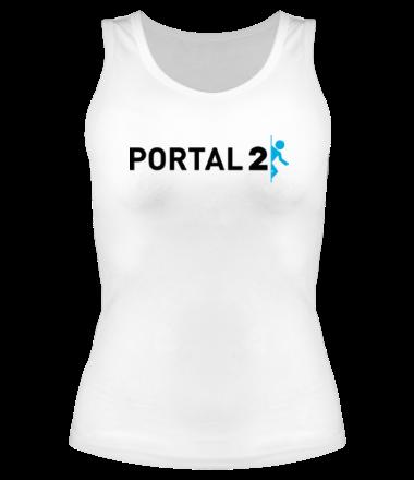 Женская майка борцовка Portal 2