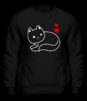 Толстовка без капюшона Ласковый котик
