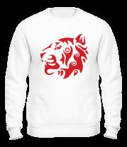 Толстовка без капюшона Узор тигр