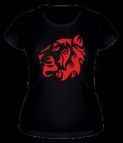 Женская футболка  Узор тигр
