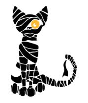 Толстовка без капюшона Кот мумия
