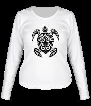 Женская футболка с длинным рукавом Морская черепаха