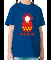Детская футболка  Russia dj