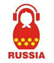 Женская футболка с длинным рукавом Russia dj