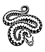 Толстовка без капюшона Силуэт змеи