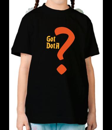 Детская футболка  Got dota