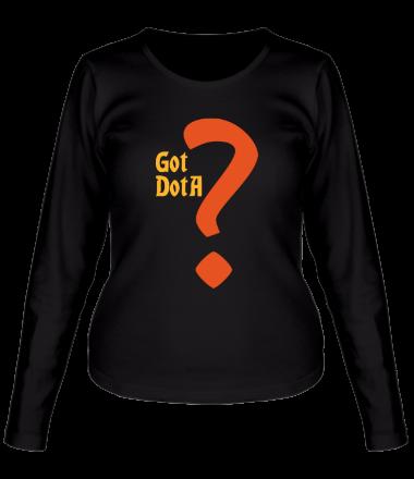Женская футболка с длинным рукавом Got dota
