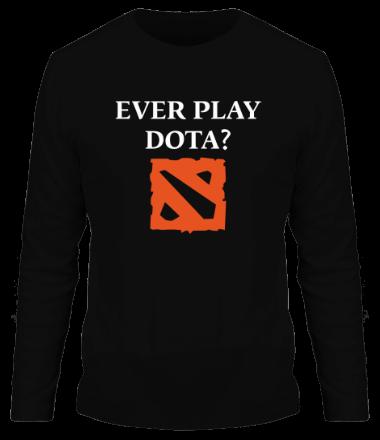 Мужская футболка с длинным рукавом Ever play dota