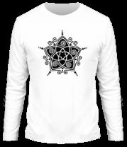 Мужская футболка с длинным рукавом Узорная звезда