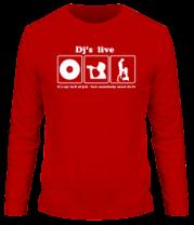 Мужская футболка с длинным рукавом Dj's live