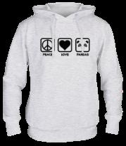 Толстовка Peace Love Pandas