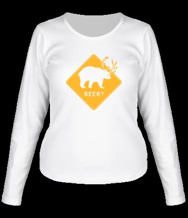 Женская футболка с длинным рукавом Beer