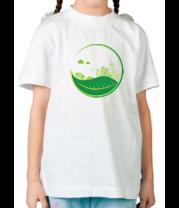 Детская футболка  Эко город