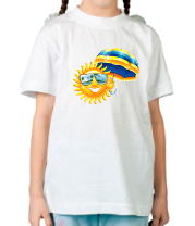 Детская футболка  Солнце с зонтом