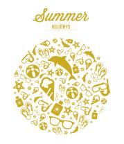 Детская футболка  Летние каникулы