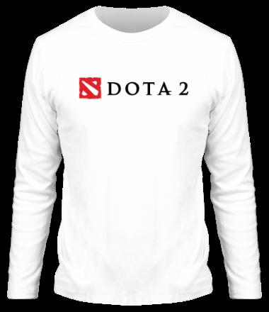 Мужская футболка с длинным рукавом Dota 2 Logo