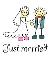 Мужская футболка  Just married