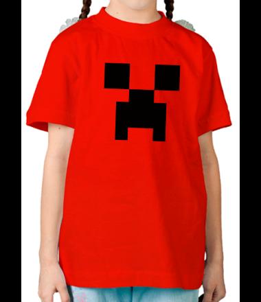 Детская футболка  Creeper face
