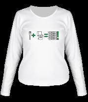 Женская футболка с длинным рукавом Чисти !