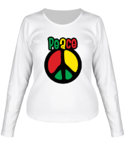 Женская футболка с длинным рукавом Peace