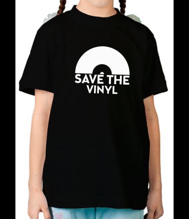 Детская футболка  Save the vinyl