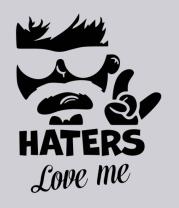 Толстовка Haters love me