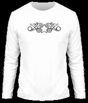 Мужская футболка с длинным рукавом Тату звезда с узорами