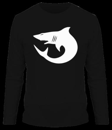 Мужская футболка с длинным рукавом Акулы (Sharks)