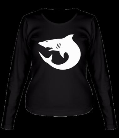 Женская футболка с длинным рукавом Акулы (Sharks)
