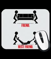 Коврик для мыши Лучший друг   Best friend