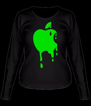 Женская футболка с длинным рукавом Кислотное яблоко