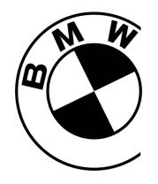 Женская футболка  Бмв значок
